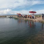 Alumnas de Colegio Santa Rosa pescando